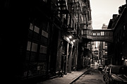 Fire Escapes Prints - Staple Street - Tribeca - New York City Print by Vivienne Gucwa