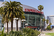Staples Framed Prints - Staples Center in Los Angeles California Framed Print by Paul Velgos