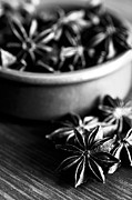 Food And Beverage Photo Metal Prints - Star Anise Dish Metal Print by Anne Gilbert