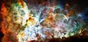 Science Fiction Metal Prints - Star Birth in the Carina Nebula  Metal Print by The  Vault - Jennifer Rondinelli Reilly