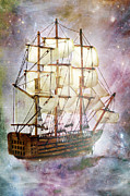 Sailing Ship Framed Prints - Star Blazer Framed Print by Stephanie Frey