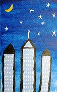 Highrise Painting Framed Prints - Star City Framed Print by Will Boutin Photos