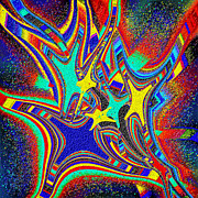 Ray Yeargin Digital Art Prints - Star Cluster Print by Ray Yeargin
