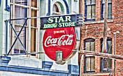 Soda Fountain Framed Prints - Star Drug Store - HDR Neon Sign Framed Print by Scott Pellegrin