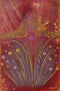 Star Burst Paintings - Star Dust by Denise Peat