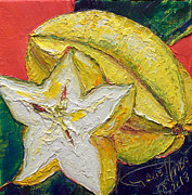 Lancaster Artist Metal Prints - Star Fruit Metal Print by Paris Wyatt Llanso
