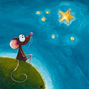 Mice Paintings - Star Gazing by Lucia Stewart