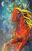 Expressionist Horse Framed Prints - Star horse Framed Print by Relly Peckett