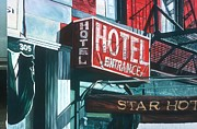 Fire Escape Metal Prints - Star Hotel Metal Print by Anthony Butera