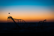 Jet Star Photo Metal Prints - Star Jet Roller Coaster Silhouette  Metal Print by Michael Ver Sprill