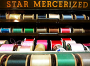 Bobbins Posters - Star Mercerized Threads Poster by Tiffany Dawn Smith