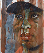 Tiger Woods Paintings - Star n Stripes  by Paul Lovering