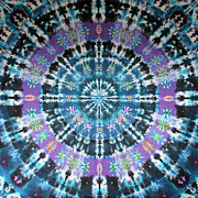 Tie Dye Tapestries - Textiles Metal Prints - Star Nova Metal Print by Courtenay Pollock