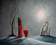Snowing Posters - Star Of Hope by Shawna Erback Poster by Shawna Erback