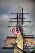 Tall Ships Posters - Star of India Stars and Stripes Poster by Peter Tellone