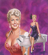 Super Stars Painting Framed Prints - Star Of Stars - Doris Day Framed Print by Dick Bobnick