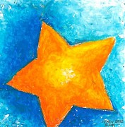 Star Pastels Metal Prints - Star Metal Print by Ricardo Manabat