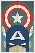 Shield Digital Art Posters - Star-Spangled Avenger Poster by Michael Myers