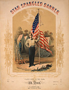 Star Spangled Banner Framed Prints - Star Spangled Banner Framed Print by Digital Reproductions