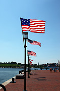 Flagpole Photos - Star Spangled Banner Flags in Baltimore by James Brunker