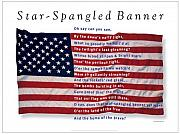 Star Spangled Banner Mixed Media - Star Spangled Banner Poster by George Delany