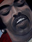 Guitar God Painting Originals - Star Spangled Jimi by Dean Stephens