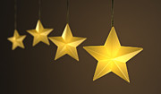 Hanging Prints - Star String Lights Print by Scott Norris