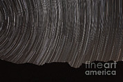 Star Valley Framed Prints - Star Trails Above A Valley Framed Print by Amin Jamshidi