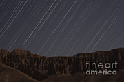 Star Trails Above Martians Valley Print by Amin Jamshidi