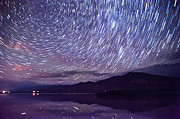 Stars Photos - Star Trails at Klondike Lake by Cat Connor