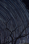 Long Exposure Mixed Media - Star Trails over the city of Skopje by Besnik  Matoshi