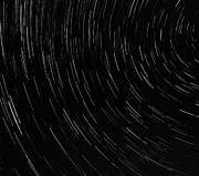 Startrails Photo Metal Prints - Star Trails Metal Print by Richard Marquardt