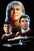 Nimoy Posters - Star Trek II - The Wrath of Khan Poster by Paul Tagliamonte