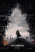Film Print Framed Prints - Star Trek into Darkness  Framed Print by Movie Poster Prints