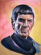 Star Pastels Framed Prints - Star Trek Old Spock  Framed Print by Martha Suhocke