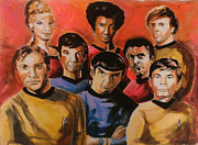 Spock Paintings - Star Trek Original Crew by Paul Mitchell