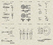 Science Fiction Art Drawings Posters - Star Trek Patent Collection Poster by PatentsAsArt