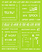 Tv Show Prints - Star Trek Remembered in Green Print by Nomad Art And  Design