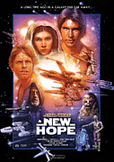 Motion Picture Star Prints - Star Wars Episode IV A New Hope Print by Nomad Art And  Design