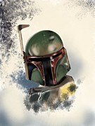 Starwars Digital Art Prints - Star Wars  Print by Flaco Garcia
