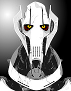 Starwars Digital Art Prints - Star wars General Grevious Print by Paul Dunkel