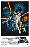 Movies Framed Prints - Star Wars Poster Framed Print by Sanely Great
