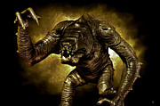 Star Digital Art Posters - Star Wars Rancor Monster Poster by Nicholas  Grunas