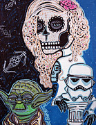 Storm Trooper Paintings - Star Wars Sugar Skull by Laura Barbosa