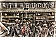 Italian Cafe Prints - Starbucks 1971 Print by Spencer McDonald