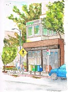 Santa Monica Paintings - Starbucks-Coffee-in-Montana-Street-Santa-Monica-CA by Carlos G Groppa