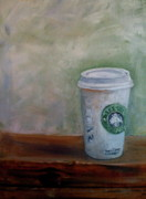 Coffee Mug Prints - Starbucks Coffee Print by Mohita Bhatnagar