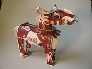 Paper Sculpture Posters - Starbucks Pony Poster by Alfred Ng