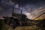 Stars Digital Art Framed Prints - Stardust and  Rust Framed Print by Aaron J Groen
