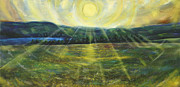Cooperstown Painting Framed Prints - Starfield in midsummer Framed Print by Jerod  Kytah